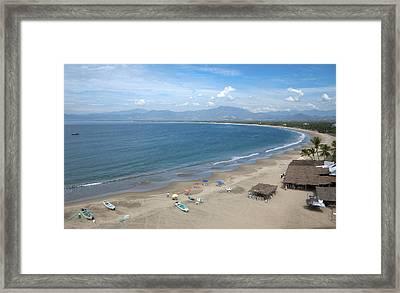 The Pacific Shoreline, Barra De Potosi Framed Print