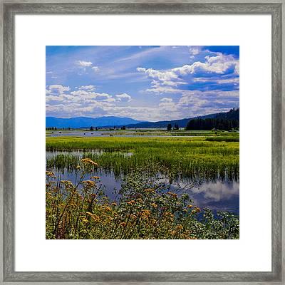 The Pack River - Hope Idaho Framed Print