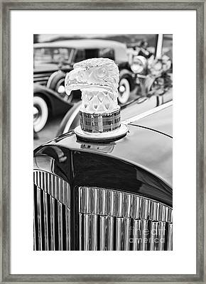 The Packard Eagle Hood Ornament At The Concours D Elegance. Framed Print by Jamie Pham