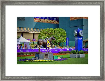 The Paddock At Santa Anita Framed Print by See My  Photos