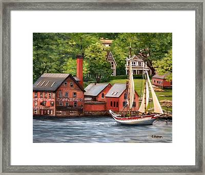 The Paint Factory And The Ardelle Framed Print by Eileen Patten Oliver