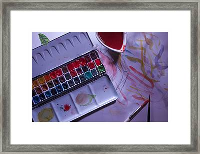The Paintbox Framed Print