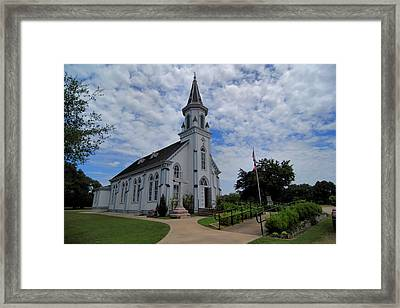 The Painted Churches Framed Print by Linda Unger