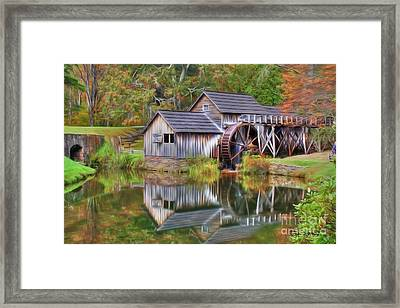 The Painted Mill Framed Print