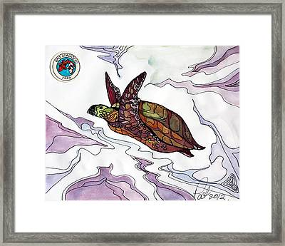 The Painted Turtle Framed Print by Pat Purdy