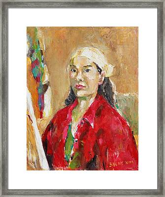 The Painter Framed Print by Becky Kim