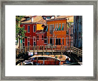 The Painters Eye In Venice Framed Print by Ira Shander