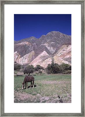 The Painters Palette Jujuy Argentina Framed Print by James Brunker
