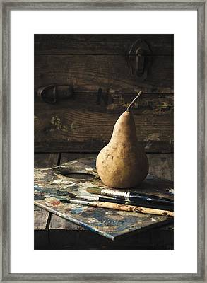The Painter's Pear Framed Print