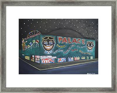 The Palace At Night Framed Print