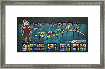 The Palace Clown At Night Framed Print by Patricia Arroyo