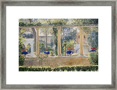 The Palace Garden Framed Print by Lucy Willis