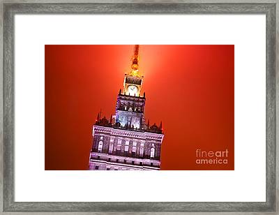 The Palace Of Culture And Science Warsaw Poland  Framed Print by Michal Bednarek