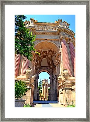The Palace Of Fine Arts In The Marina District Of San Francisco II Framed Print