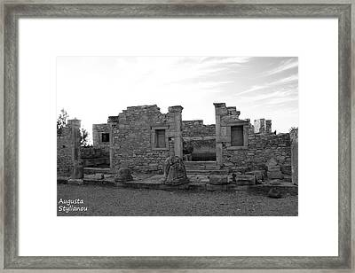 The Palaestra- Apollo Sanctuary  Framed Print by Augusta Stylianou