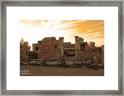 The Palaestra -kourion-apollo Framed Print by Augusta Stylianou