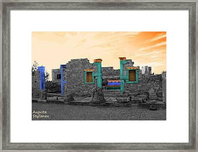 The Palaestra - Kourion-apollon Framed Print by Augusta Stylianou