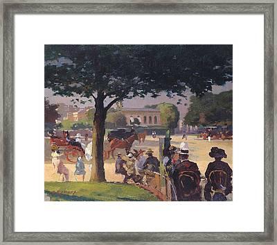 The Palais Rose, Paris Oil On Canvas Framed Print by Jules Ernest Renoux