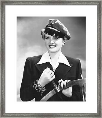 The Palm Beach Story, Mary Astor, 1942 Framed Print