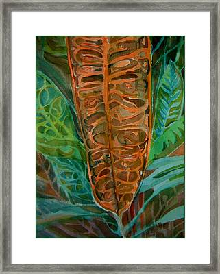 The Palm Leaf Framed Print by Mindy Newman