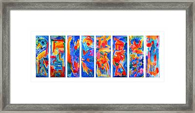The Panels Of Man Framed Print by  Tolere