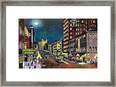 The Pantages Theatre In Seattle Wa Around 1910 Framed Print by Dwight Goss