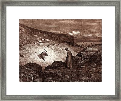 The Panther In The Desert, By Gustave Dore Framed Print by Litz Collection