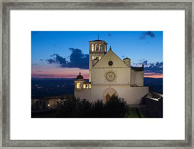The Papal Basilica Of St. Francis Of Assisi Framed Print