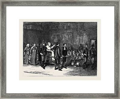 The Papal Jubilee At Rome The Pope Blessing The Polish Framed Print by English School