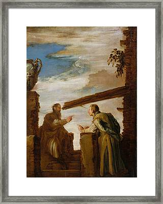 The Parable Of The Mote And The Beam Framed Print by Domenico Fetti