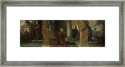 The Parable Of The Pharisee And The Publican Tax Collector Framed Print