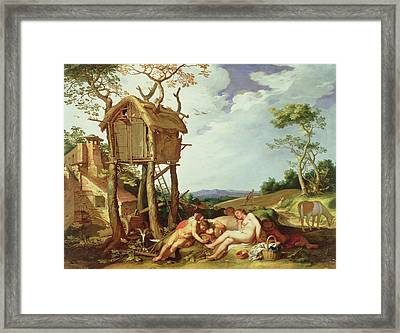 The Parable Of The Wheat And The Tares Framed Print by Abraham Bloemaert