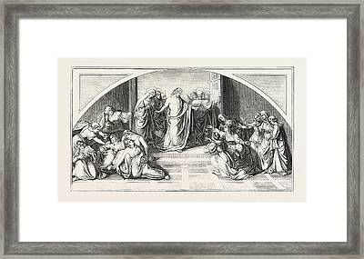The Parable Of The Wise And Foolish Virgins Framed Print