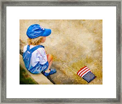 The Parade Has Passed Him By Framed Print
