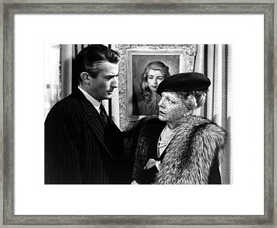 The Paradine Case, From Left, Gregory Framed Print by Everett