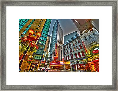 The Paramount Center And Opera House In Boston Framed Print