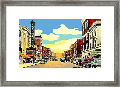 The Paramount Theatre In Newport News Va In 1940 Framed Print
