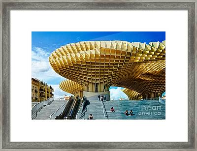 The Parasol Metropol In The Early Morning Framed Print
