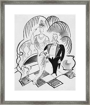 The Parents Of A Debutante At Her Coming Framed Print by Cecil Beaton