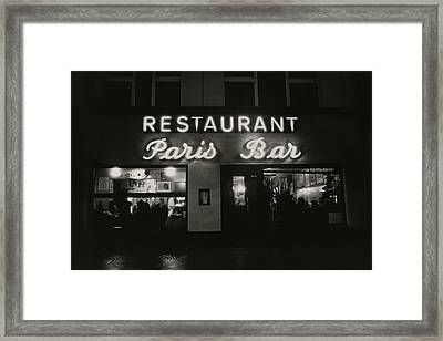 The Paris Bar Framed Print by Dominique Nabokov