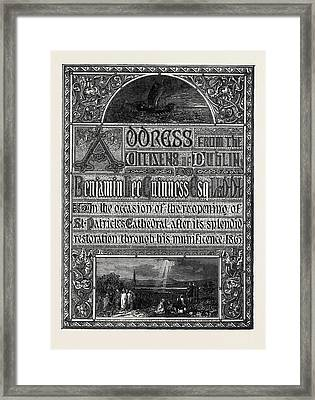 The Paris International Exhibition Of 1867 Titlepage Framed Print by French School