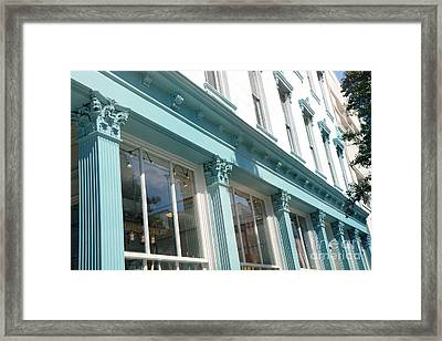 The Paris Market - Savannah Georgia Paris Market - Paris Macaron Shop - Parisian Shop Architecture Framed Print by Kathy Fornal