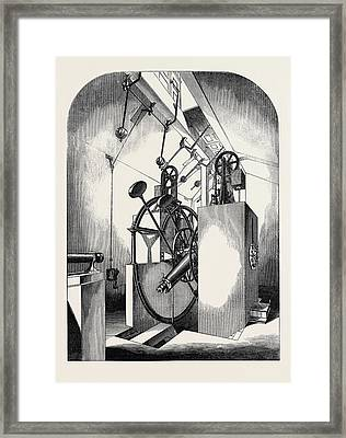 The Paris Universal Exhibition, Model Of The Transit Circle Framed Print