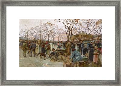 The Parisian Bird Market Framed Print