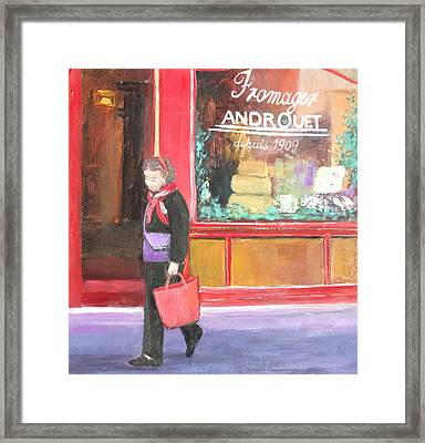The Parisian Shopper Framed Print