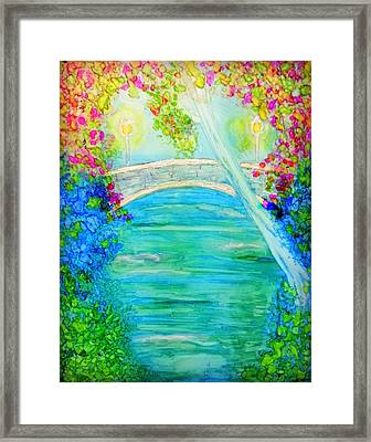 The Park At Dusk Framed Print