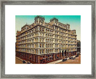 The Park Avenue Hotel In New York City In 1910 Framed Print by Dwight Goss