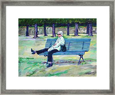 The Park Framed Print by Derrick Higgins