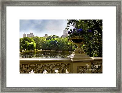 The Park On A Sunday Afternoon Framed Print