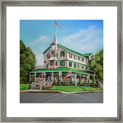 The Parker House Framed Print by Melinda Saminski